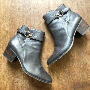 Coach Paulina Ankle Boots Brown Leather Womens 8
